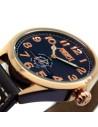 Reloj Aviador Mosca AV-1024 negra correa piel negra reloj de piloto de avión histórico Polikárpov I-16