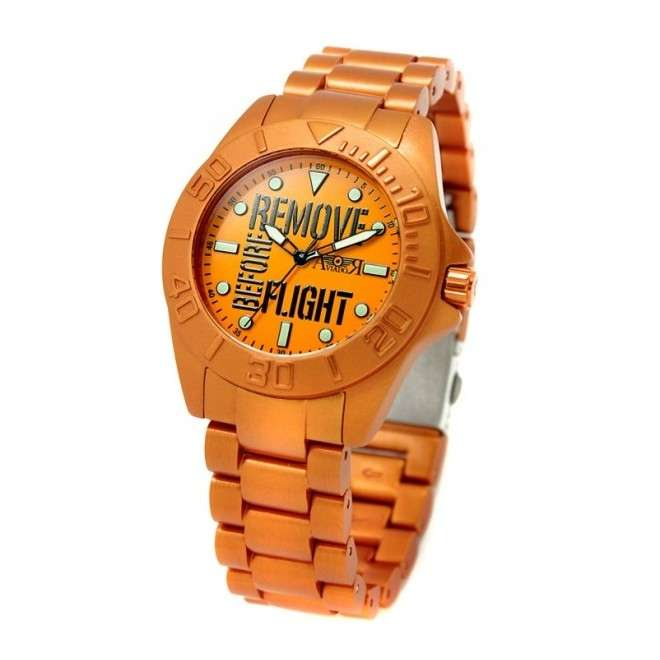 Reloj Aviador Remove Before Flight Young AV-1124 reloj de piloto naranja unisex