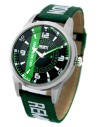 Reloj Aviador de piloto sport negro y correa verde RBF Full Calendar AV-1059