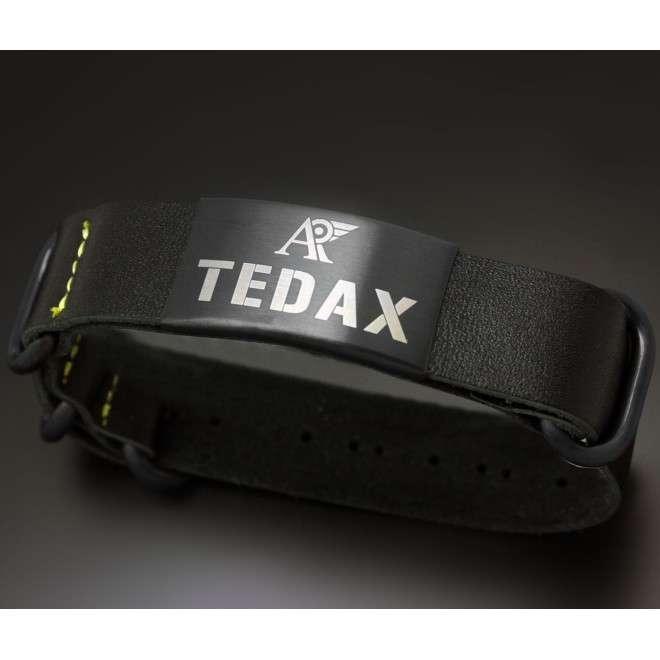 Pulsera TEDAX de cuero negro AV-PUL-1003