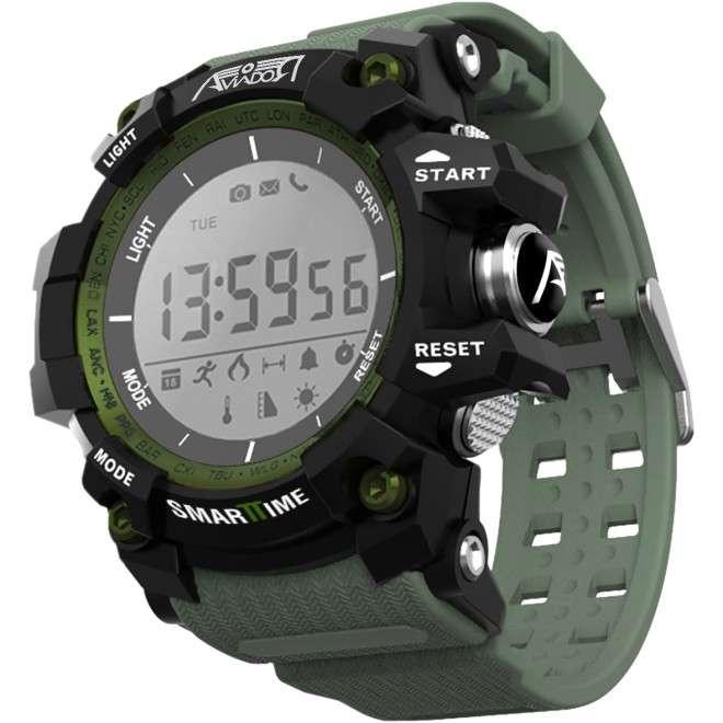RBF SmartTime Verde Reloj Deportivo Multifunción con podómetro, conexión Bluetooth 4.0, impermeabilidad IP68. Compatible con iP