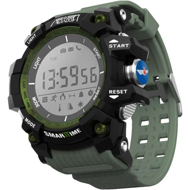 SmartTime Ala 11 Reloj Deportivo Multifunción con podómetro, conexión Bluetooth 4.0, impermeabilidad IP68. Compatible con iP