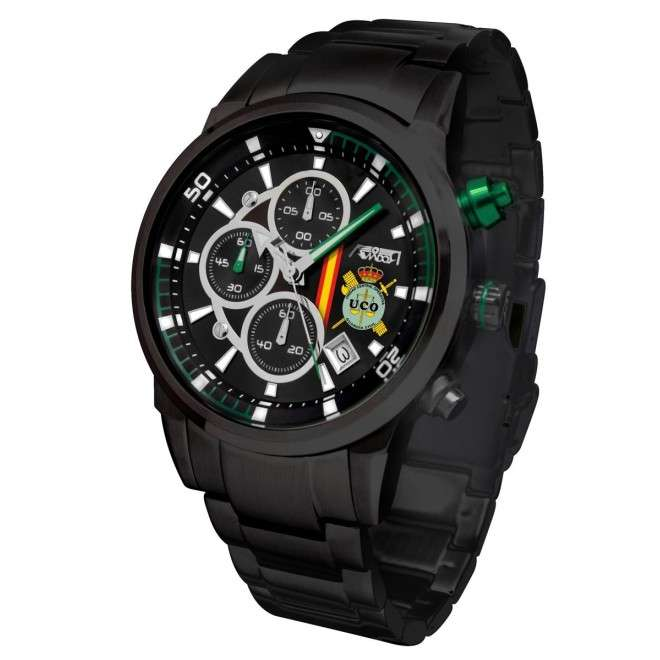 Reloj AVIADOR UCO Guardia Civil Correa Acero IPB