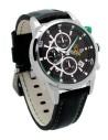 Reloj AVIADOR Servicio Aéreo Guardia Civil AV-1060-18-SA, 44 mm, correa negra, esfera negra, tapa grabada, calendario, WR 10 ATM
