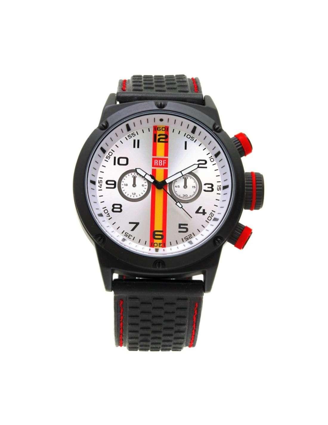98b4c54334d8 ... Reloj AVIADOR Estilo Crono Rojo Con Bandera de España New RBF-1001 ...