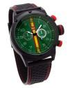 Reloj AVIADOR Con Bandera de España y Esfera Verde RBF-1003
