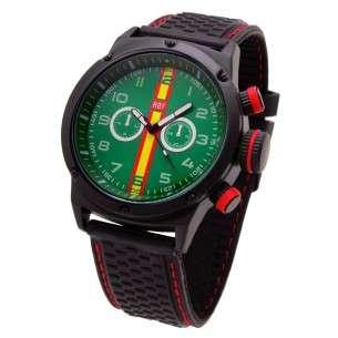 74a934643d5d Reloj AVIADOR Con Bandera de España y Esfera Verde RBF-1003 ...