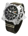 Reloj AVIADOR Instruments AV-1196-PME Steel, caja de acero 52 mm, correa en cuero, calendario, cristal mineral, WR 10 ATM.
