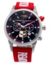 Reloj Aviador RBF ALA 35 AV-1090-9 correo color rojo esfera negra de piloto militar de transporte