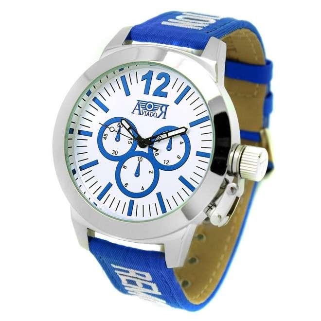 Reloj Aviador de piloto sport Azul RBF Cabujón AV-1047