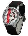 Reloj Aviador RBF Full Calendar AV-1057-WP metal correa color rojo piloto