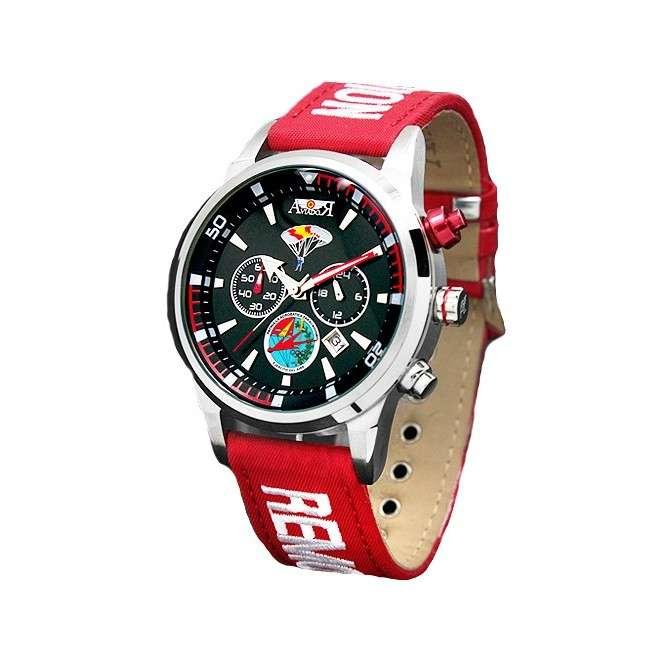 Reloj Aviador RBF PAPEA AV-1090-7 color rojo esfera negra reloj de piloto paracaidistas