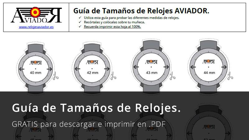 Guía de Tamaños de Relojes. 19de6399d9a5