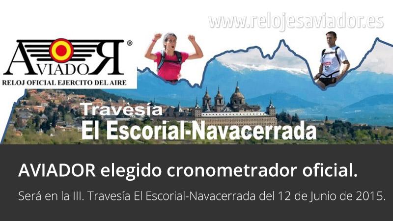 Relojes AVIADOR Watch Cronometrador Oficial III. Travesía El Escorial Navacerrada 2015