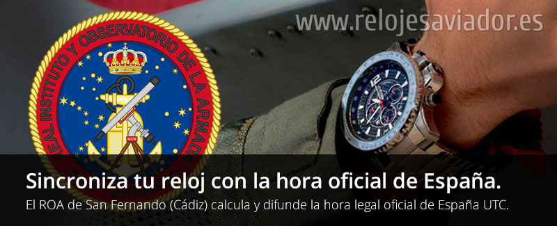 Sincroniza tu reloj con la hora oficial de España