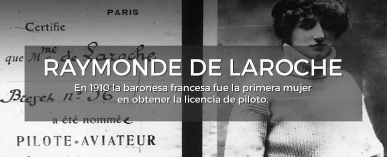 Raymonde De Laroche Primera Mujer Piloto | Relojes AVIADOR Watch