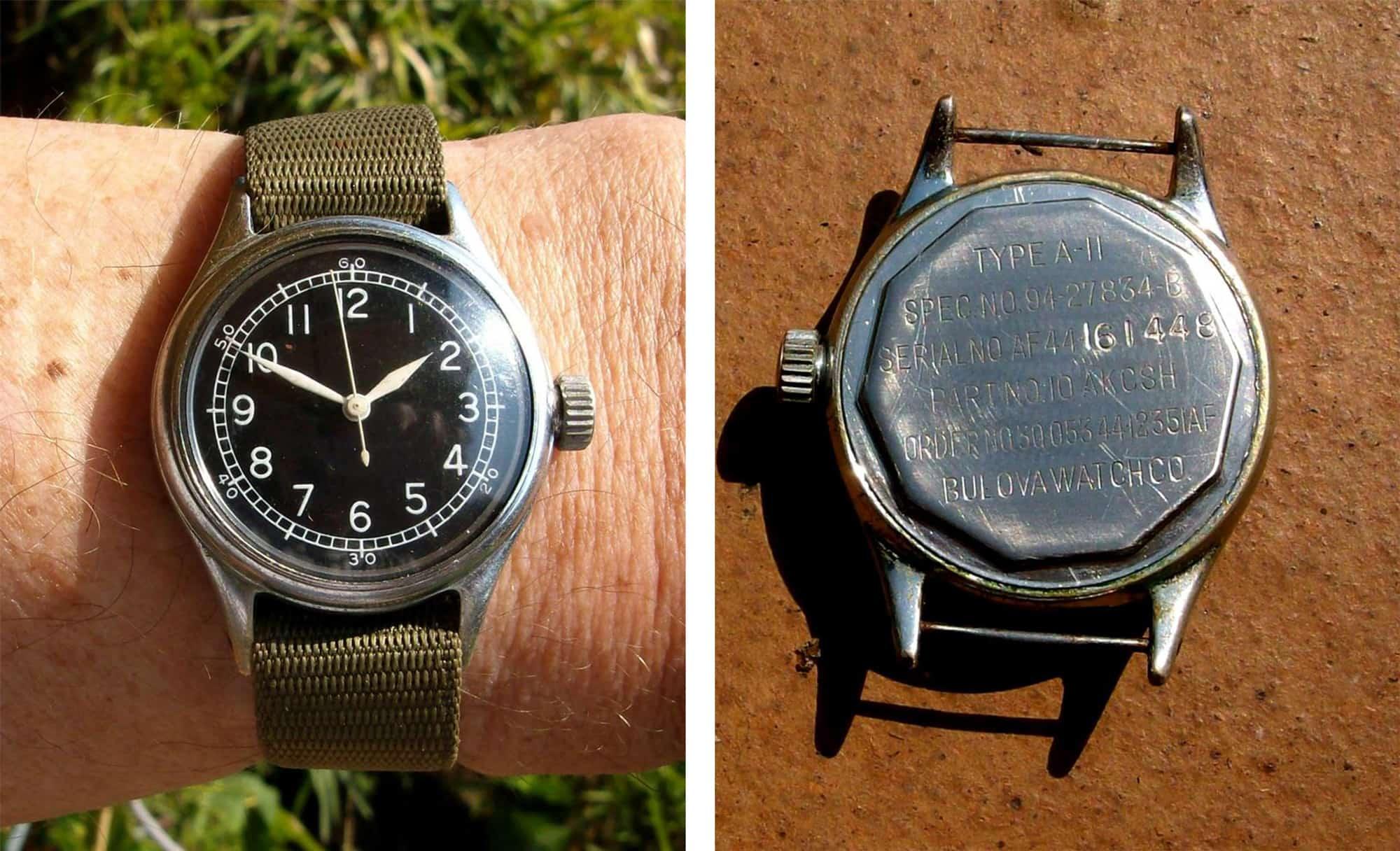 historia del reloj militar Bulova A-11