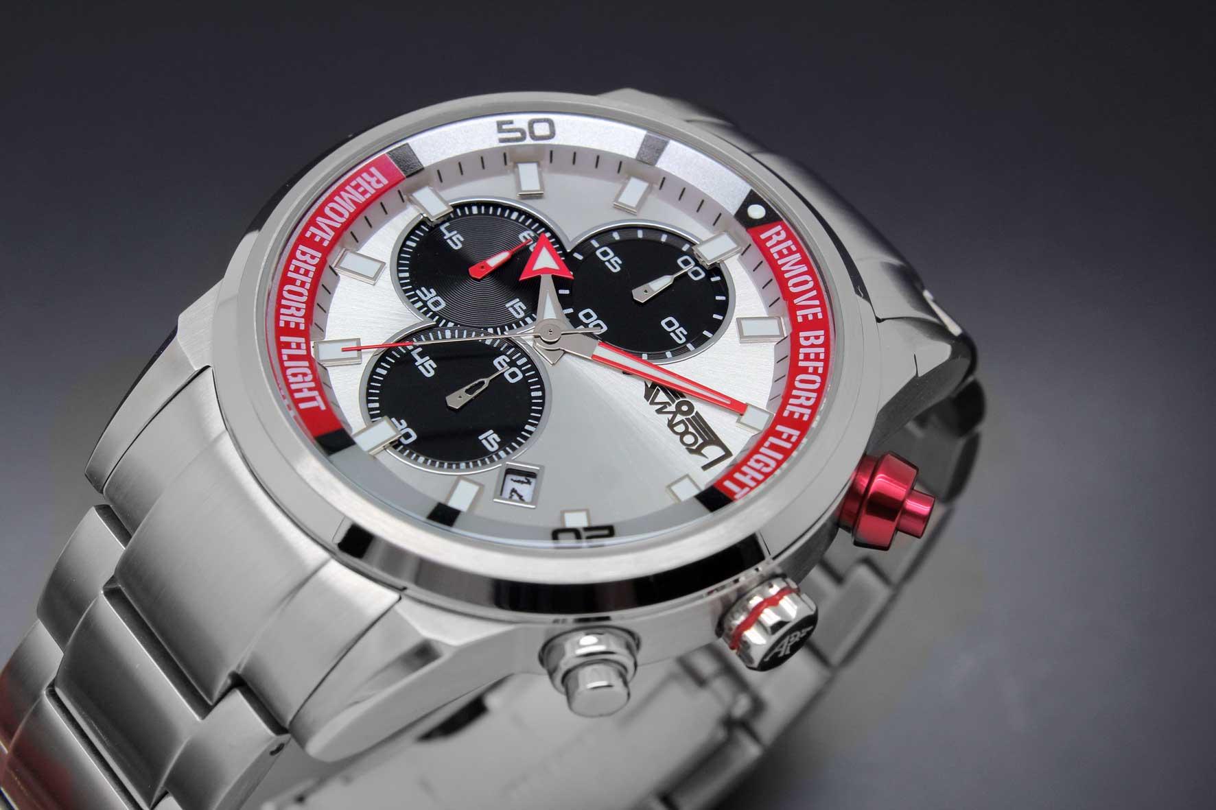 Reloj AVIADOR New RBF AV-1191 con caja de acero quirúrgico, esfera plateada silver, armis sólido en acero 316