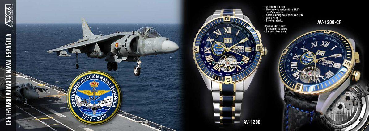 Reloj Aviador Centenario Aviación Naval Española AV-1200