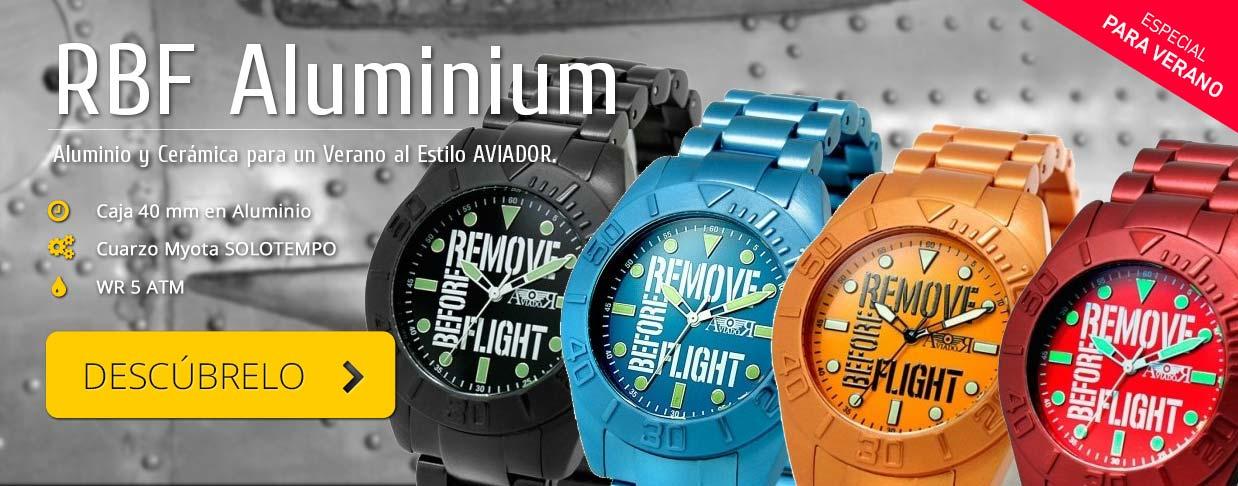 Colección Relojes RBF Young Aluminium de Relojes AVIADOR Watch. Relojes de Piloto.