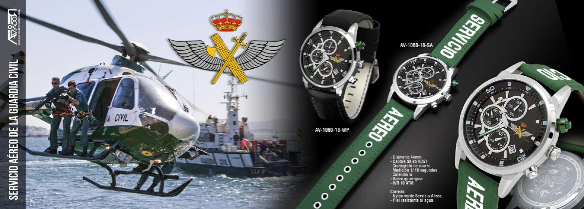 Reloj AVIADOR Servicio Aéreo de la Guardia Civil